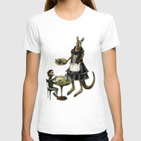 cafe T-shirts featuring Kangaroo cafe by Anna Shell