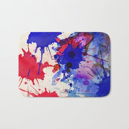 Blue & Red Color Splash Bath Mat