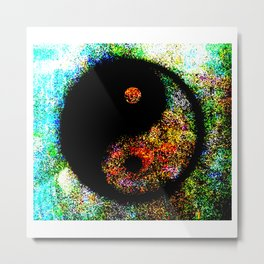 Yin Yang Multi jGibney The MUSEUM Society6 Gifts Metal Print