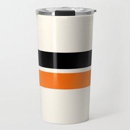 2 Stripes Black Orange Travel Mug