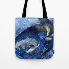 """Edward Robert Hughes (1912) """"Night with her train of stars"""" Tote Bag"""