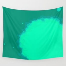 Splat on Teal - by Friztin Wall Tapestry