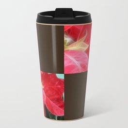 Mottled Red Poinsettia 2 Blank Q3F0 Travel Mug