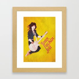 Joan Jett Poster Framed Art Print