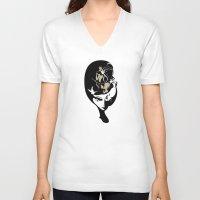 elsa V-neck T-shirts featuring Elsa by urban gemini