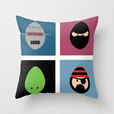 Robot Ninja Cthulhu Pirate Throw Pillow