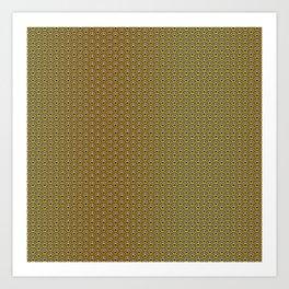 Traditional Japanese pattern HANA-SEIGAIHA Art Print