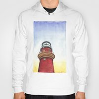 lighthouse Hoodies featuring Lighthouse by Jackie Sullivan