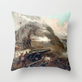 The Capture Of Fort Fisher Throw Pillow