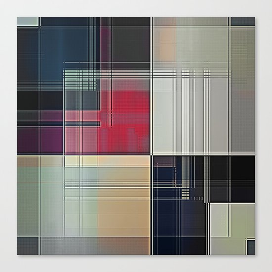 Lines/Abstract Q1 Canvas Print
