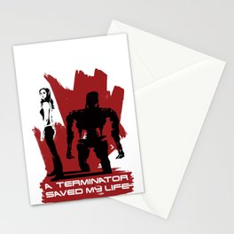 A Terminator Saved My Life Stationery Cards
