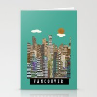 vancouver Stationery Cards featuring Vancouver skyline by bri.buckley