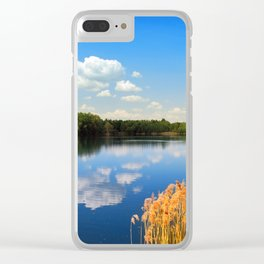 Beautiful lake 44 Clear iPhone Case