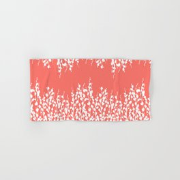 Pussywillow Silhouettes — Living Coral Hand & Bath Towel