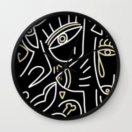 Line abstract drawing 002 Wall Clock