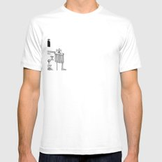 General Mustache Mens Fitted Tee SMALL White