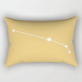 Aries Zodiac Constellation - Golden Yellow Rectangular Pillow