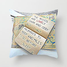 Stopping by woods - Robert frost Throw Pillow