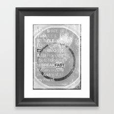 SocialMonoBreakFast 2.0 Framed Art Print