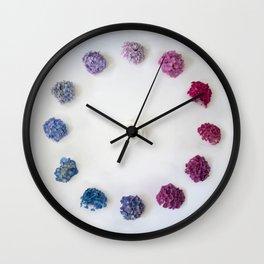 Circle of Hydrangea Wall Clock