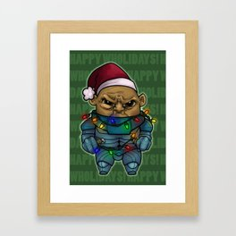 Happy Wholidays featuring Strax Framed Art Print