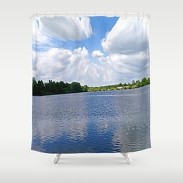 Heaven and Earth Shower Curtain