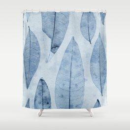 Botanical Pattern 2 (blue) Shower Curtain