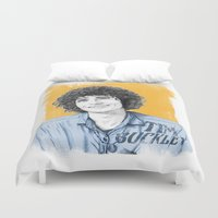 tim burton Duvet Covers featuring Tim Buckley by Daniel Cash