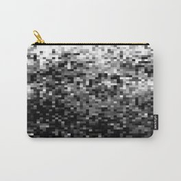 Black  & White Pixels Carry-All Pouch
