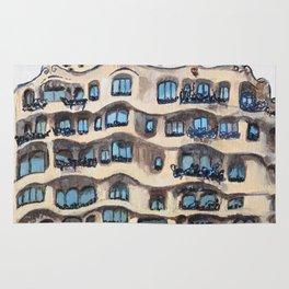Barcelona, La Pedrera, building by Gaudi Rug