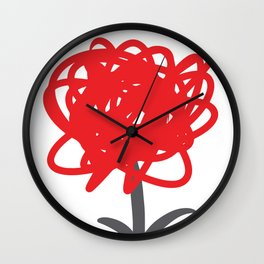 Flower of frustrations Wall Clock