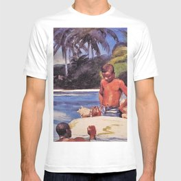 Winslow Homer's African American Masterpiece, Father & Son, The Coral Reefs, The Florida Keys landscape painting T-shirt
