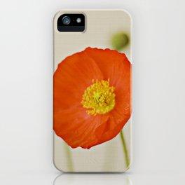 Poppy Flower Red Orange Yellow Bloom iPhone Case