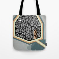 community Tote Bags featuring Community by Scott Erickson