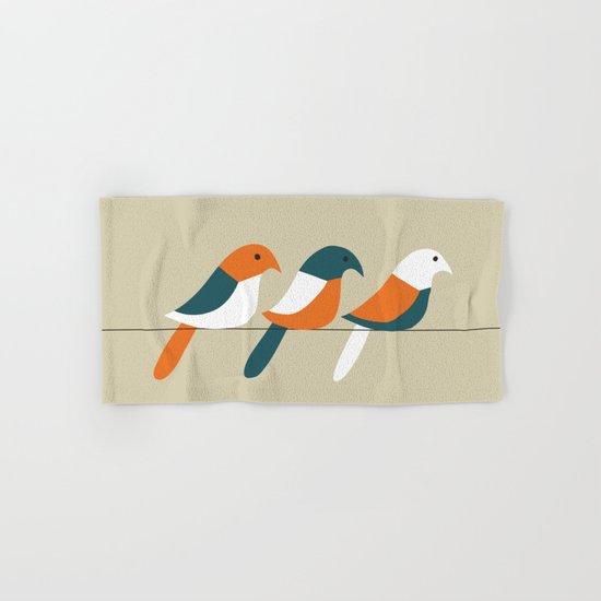 Birds on wire Hand & Bath Towel