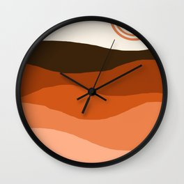 Choice - retro 70s style vibes sunset mountains desert ocean minimalist decor hipster 1970s Wall Clock