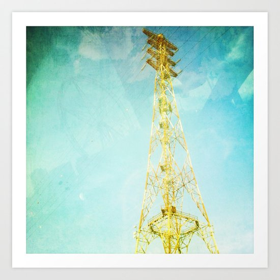 towers of gold Art Print