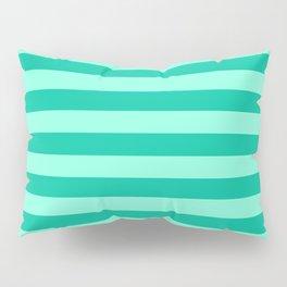 Teal and Aqua Mint Stripes Pillow Sham