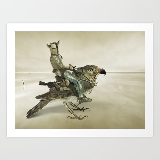 Knights ride Art Print