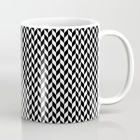 herringbone Mugs featuring Herringbone. by ∞ ♡ ☮