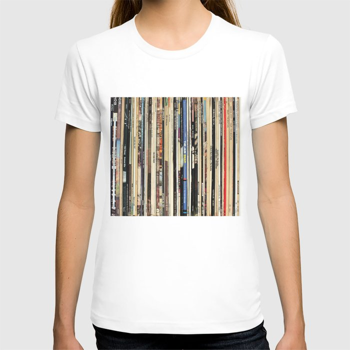 Classic Rock Vinyl Records T-Shirt