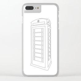 London Telephone Box Clear iPhone Case