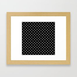 Polka Stars: Black and White Framed Art Print