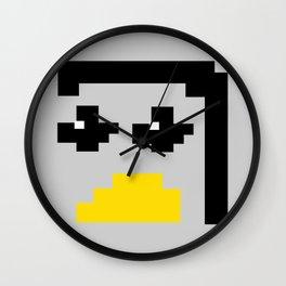 LINUX TUX PENGUIN PIXEL FACE Wall Clock