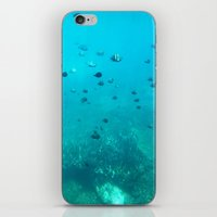 underwater iPhone & iPod Skins featuring Underwater by Shereen Yap