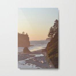 Ruby Beach Washington Sunset Pacific Ocean Coastal Landscape Northwest Explore Adventure Travel Outdoors Metal Print