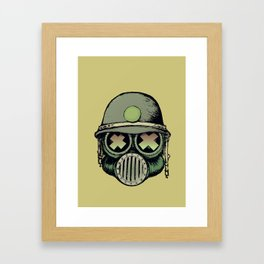 War Skull Framed Art Print