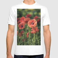 Poppy what else? MEDIUM Mens Fitted Tee White