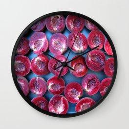 red vineyard peach Wall Clock