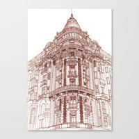 takmaj Canvas Prints featuring Facade by takmaj